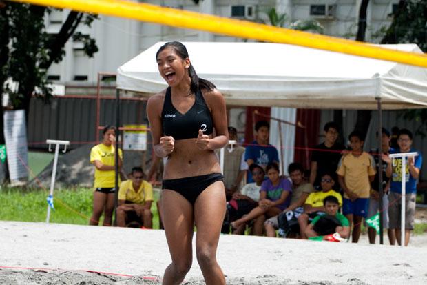 Alyssa Valdez Ateneo Beach Volleyball