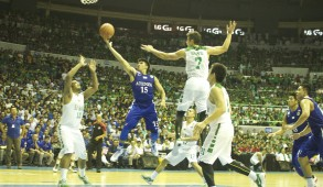 The Ateneo Blue Eagles trump the Green Archers, 97-86